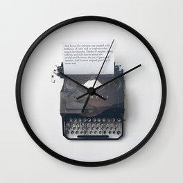 Universal Typewriter Wall Clock