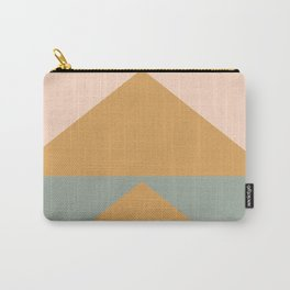 Triangles in Blush, Gray, and Honey Carry-All Pouch