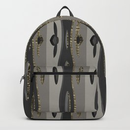 Vertical Curvy Design Lines Backpack
