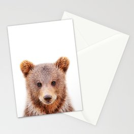 Baby Bear, Baby Animals Art Print By Synplus Stationery Cards