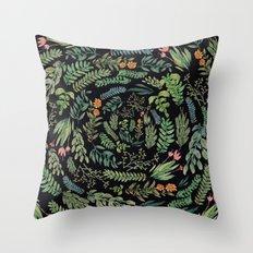 circular garden at nigth Throw Pillow