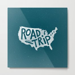 Road Trip USA - reverse Metal Print