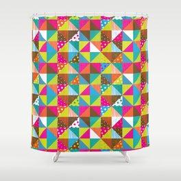 Crazy Squares Shower Curtain