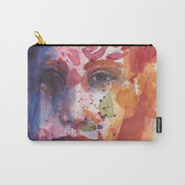 bright painted girl Carry-All Pouch