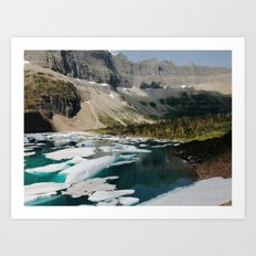 Iceberg Lake, Glacier National Park Art Print