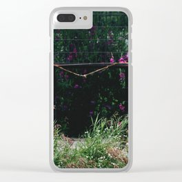 oh, sweet pea Clear iPhone Case