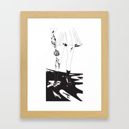 Is your coffee hot enough now? Framed Art Print
