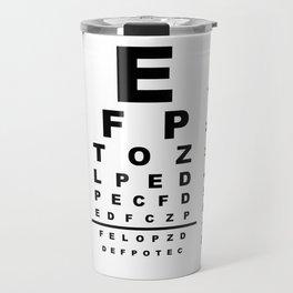 Eye Test Chart Travel Mug