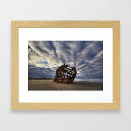 Peter Iredale Shipwreck Sunrise Framed Art Print