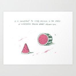 Watermelon Optimism Art Print