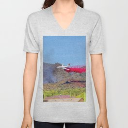 10 Tanker Air Carrier Tanker Jet Putting Out The East Valley Fire on 5/17/2020 Unisex V-Neck