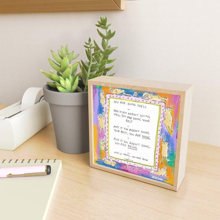 Being Bold Framed Mini Art Print