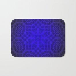 Blue Octogon Star Bath Mat