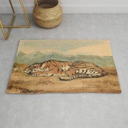 """Eugène Delacroix """"Royal Tiger"""" Rug"""