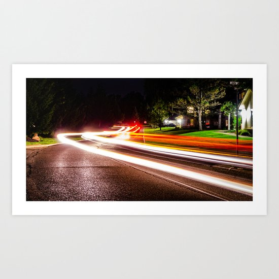 Fast Light Art Print