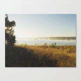 Fog on the lake Canvas Print