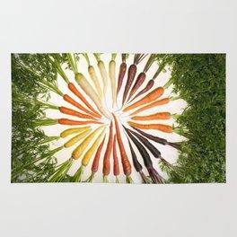 Carrot Color Wheel Rug