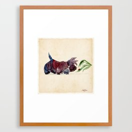 Scottie and a ladybug Framed Art Print