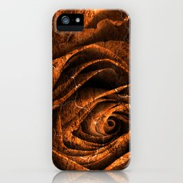 Burning Grunge Rose iPhone Case