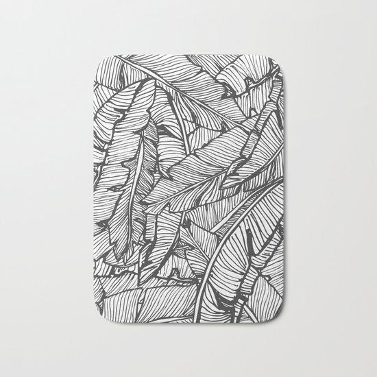 Black & White Jungle #society6 #decor #buyart Bath Mat