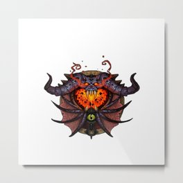 Warlock Sigil Metal Print