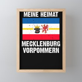 Mecklenburg Vorpommern flag coat of arms flag logo Framed Mini Art Print