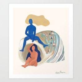 La caracola Art Print