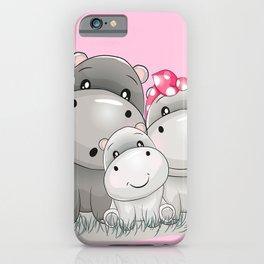 adorable hippos iPhone Case