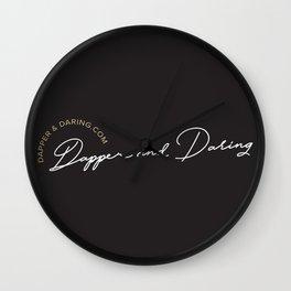 Dapper and Daring Wall Clock