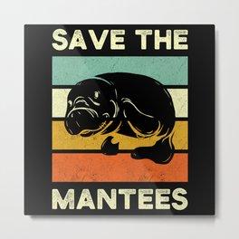 Manati Save The Manate Metal Print