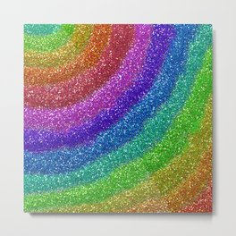 Rainbow Glitters Metal Print