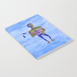 Orange guy diving in watercolor Notebook