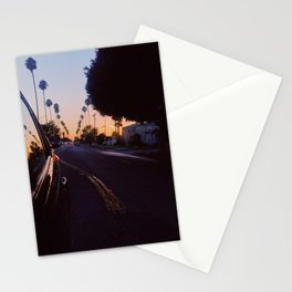 Rearview Sunset Stationery Cards