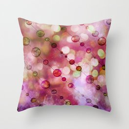 Cryptic fancy light in vibrant colors Throw Pillow