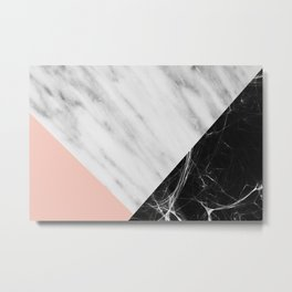 Marble Collage Metal Print