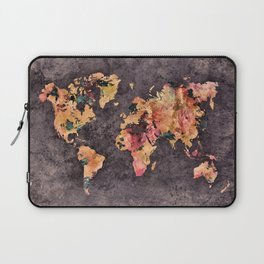 world map 68 Laptop Sleeve
