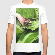 Wasp on flower16 MEDIUM Mens Fitted Tee White