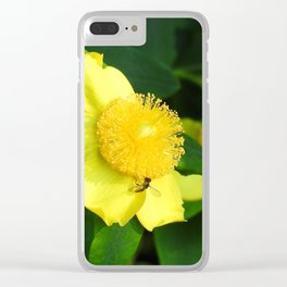 Bursts of Yellow Clear iPhone Case