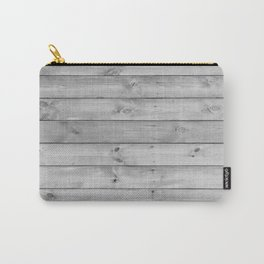 gray distressed stained painted wood board wall Carry-All Pouch
