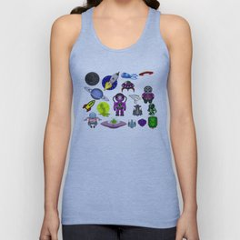 Space clip art aliens space craft Unisex Tank Top