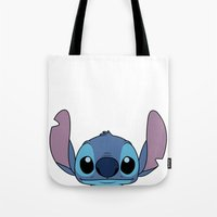 stitch Tote Bags featuring Stitch by A.Cat Designs