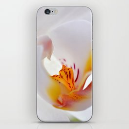 Orchid white macro 055 iPhone Skin