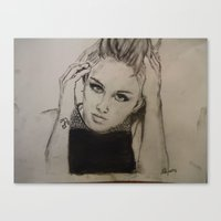 miley cyrus Canvas Prints featuring Miley Cyrus by Brittany Ketcham