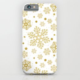 Golden snowflakes  iPhone Case