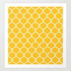 BEAUTY OF NATURE (bee , bees , yellow) Art Print