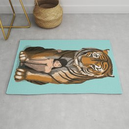 Tiger Woman Classical Painting Rug
