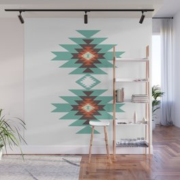 Southwest Santa Fe Geometric Tribal Indian Abstract Pattern Wall Mural