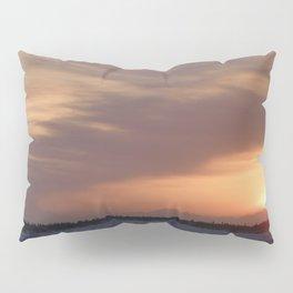 Mt. Redoubt Ashflow at Sunset #1 Pillow Sham