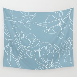 Rose on white Wall Tapestry