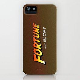 Fortune and glory, kid iPhone Case
